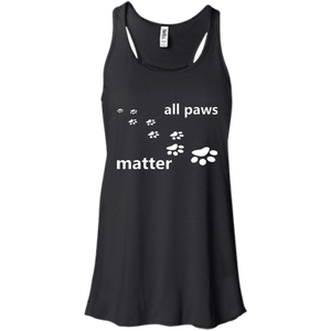 All Paws Matter - B8800 Bella + Canvas Flowy Racerback Tank Black X-Small - Little Pit Shop