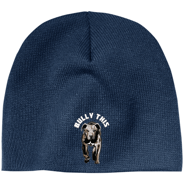 Bully This! - CP91 100% Acrylic Beanie by Little Pit Shop Navy One Size - Little Pit Shop