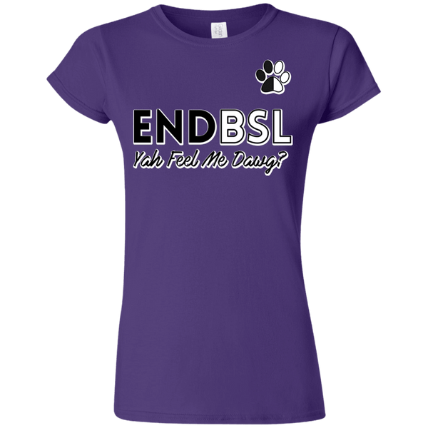 End BSL - G640L Gildan Softstyle Ladies' T-Shirt Purple Small - Little Pit Shop