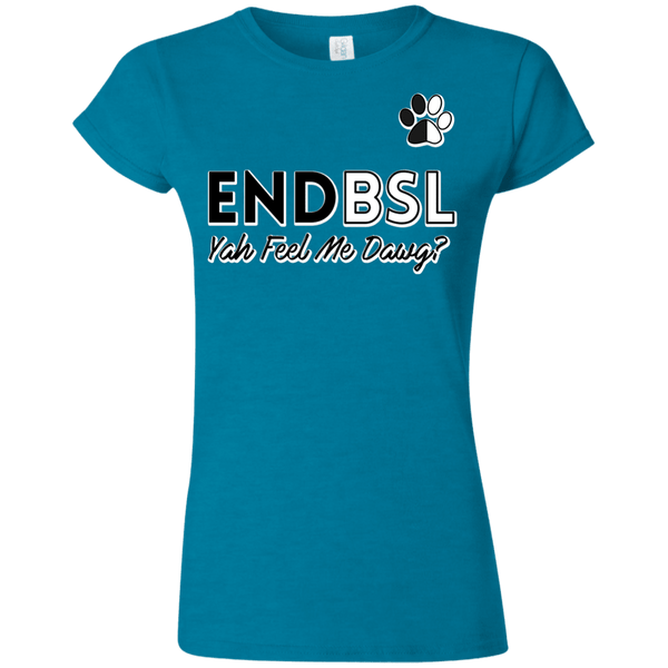 End BSL - G640L Gildan Softstyle Ladies' T-Shirt Antique Sapphire Small - Little Pit Shop