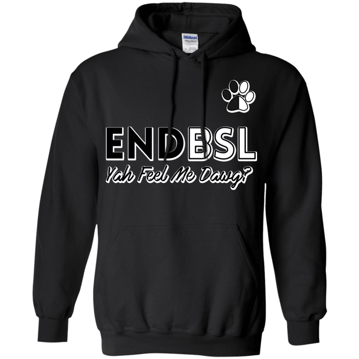 End BSL - G185 Gildan Pullover Hoodie 8 oz. Black Small - Little Pit Shop