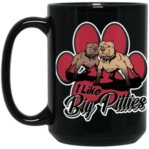 I Like Big Pitties - 15 oz. Black Mug Black One Size - Little Pit Shop