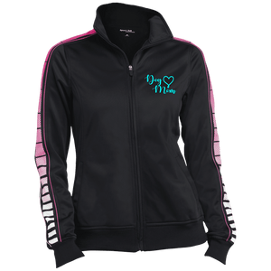 Dog Mom Teal Prnt - LST93 Sport-Tek Ladies' Dot Print Warm Up Jacket, Warm Ups | Pit Bull T Shirts, Hoodies and more | Little Pit Shop