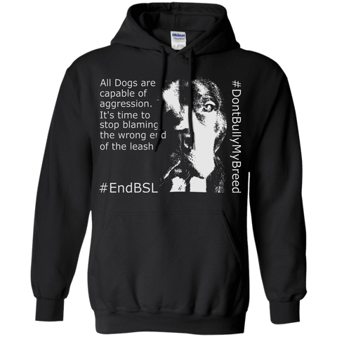 #EndBSL G185 Gildan Pullover Hoodie 8 oz. Black Small - Little Pit Shop