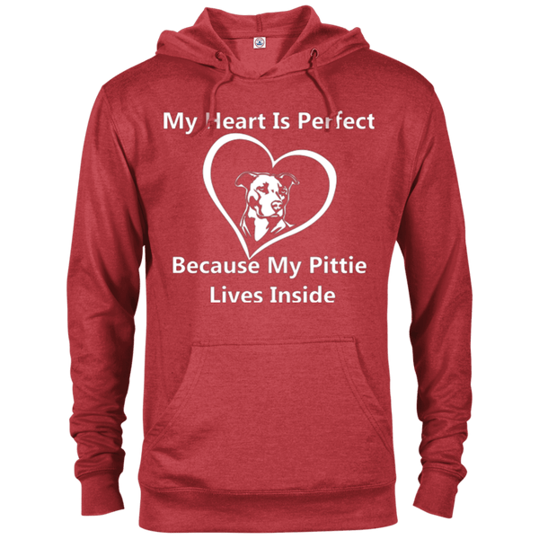 My Heart - 97200 Delta French Terry Hoodie Dark Red Heather X-Small - Little Pit Shop