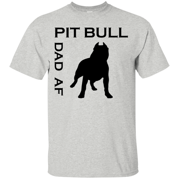 Pit Bull Dad AF - G200 Gildan Ultra Cotton T-Shirt Ash Small - Little Pit Shop