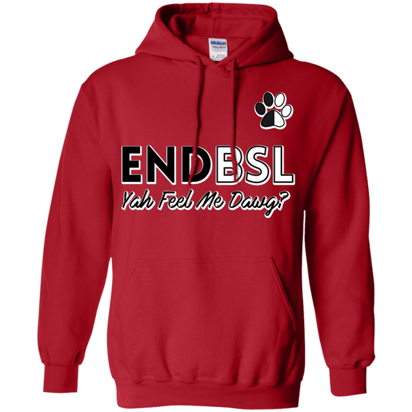 End BSL - G185 Gildan Pullover Hoodie 8 oz. Red Small - Little Pit Shop
