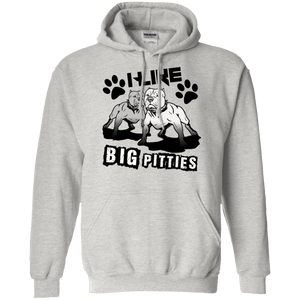 I Like Big Pitties Drk - G185 Gildan Pullover Hoodie 8 oz. Ash Small - Little Pit Shop