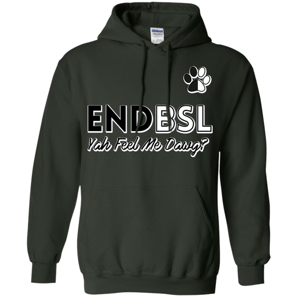 End BSL - G185 Gildan Pullover Hoodie 8 oz. Forest Green Small - Little Pit Shop