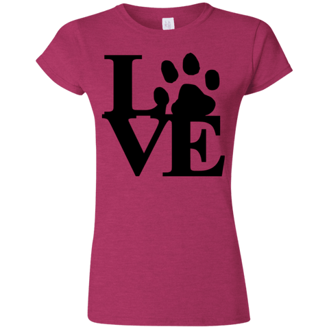 Love Paw - G640L Gildan Softstyle Ladies' T-Shirt Light, T-Shirts | Pit Bull T Shirts, Hoodies and more | Little Pit Shop