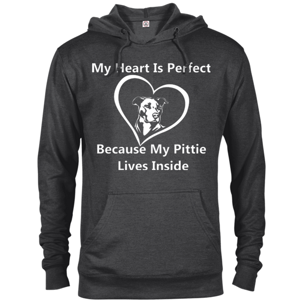 My Heart - 97200 Delta French Terry Hoodie Dark Charcoal Heather X-Small - Little Pit Shop