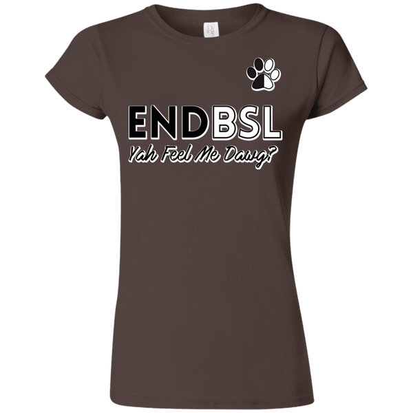 End BSL - G640L Gildan Softstyle Ladies' T-Shirt Brown Small - Little Pit Shop