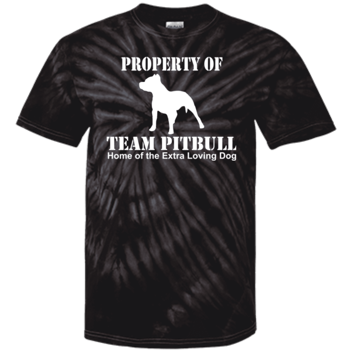 Team Pit Bull - CD100Y Youth Tie Dye T-Shirt Spider Black YXS - Little Pit Shop