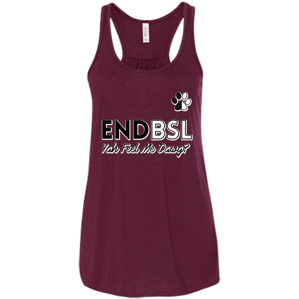 End BSL - B8800 Bella + Canvas Flowy Racerback Tank Maroon X-Small - Little Pit Shop