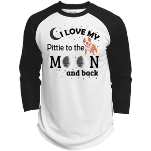 I Love My Pittie - ST205 Sport-Tek Polyester Game Baseball Jersey White/Black X-Small - Little Pit Shop