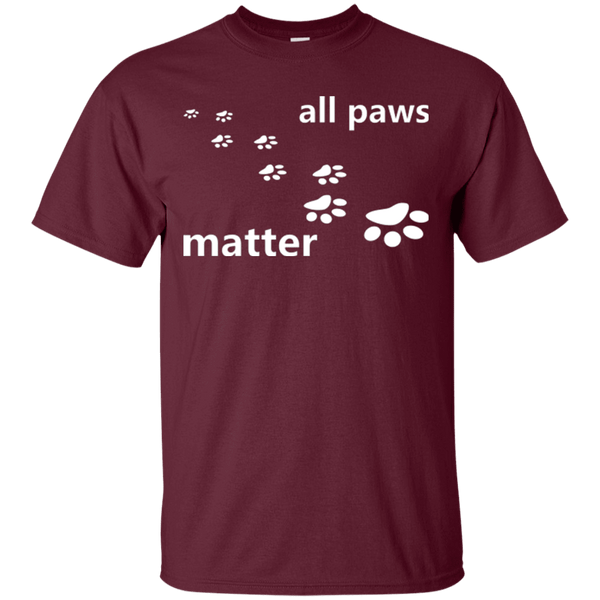 All Paws Matter - G200 Gildan Ultra Cotton T-Shirt, T-Shirts | Pit Bull T Shirts, Hoodies and more | Little Pit Shop