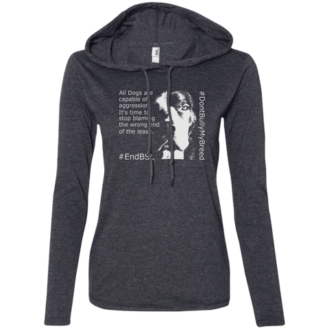 #EndBSL - 887L Anvil Ladies' LS T-Shirt Hoodie, T-Shirts | Pit Bull T Shirts, Hoodies and more | Little Pit Shop