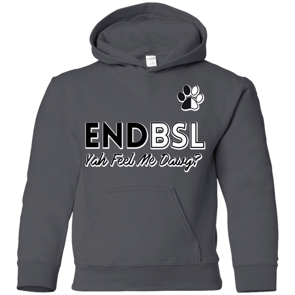 End BSL - G185B Gildan Youth Pullover Hoodie Charcoal YS - Little Pit Shop