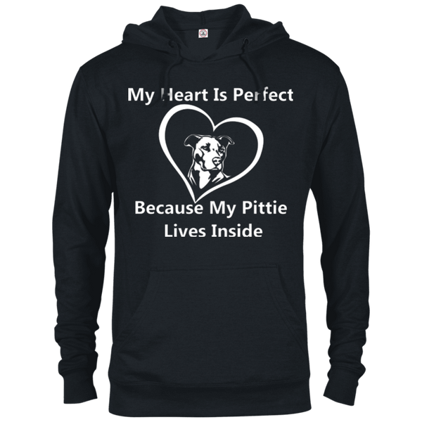 My Heart - 97200 Delta French Terry Hoodie Dark Black X-Small - Little Pit Shop