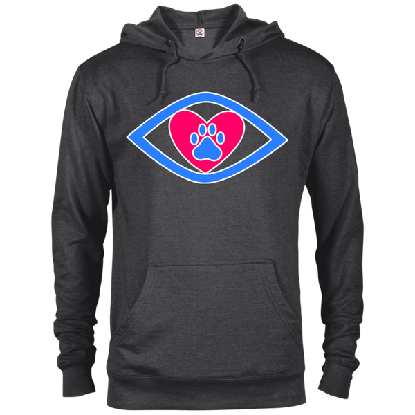 Eye-Heart-Paw - 97200 Delta French Terry Hoodie Dark Charcoal Heather X-Small - Little Pit Shop