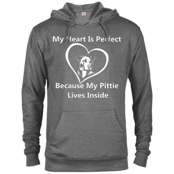 My Heart - 97200 Delta French Terry Hoodie Dark Graphite Heather X-Small - Little Pit Shop