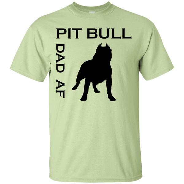 Pit Bull Dad AF - G200 Gildan Ultra Cotton T-Shirt Pistachio Small - Little Pit Shop