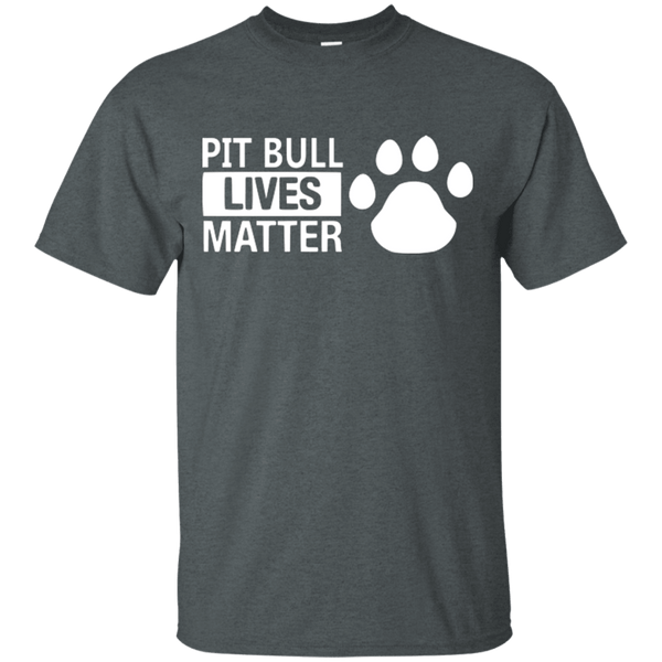 Pit Bull Lives Matter - G200 Gildan Ultra Cotton T-Shirt Dark Heather Small - Little Pit Shop
