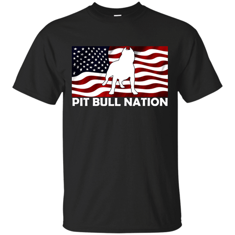 PIT BULL NATION -  G200 Gildan Ultra Cotton T-Shirt Black Small - Little Pit Shop