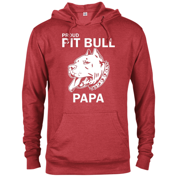 Proud Pit Bull Papa - 97200 Delta French Terry Hoodie Dark Red Heather X-Small - Little Pit Shop