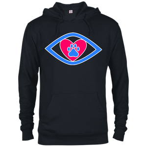 Eye-Heart-Paw - 97200 Delta French Terry Hoodie Dark Black X-Small - Little Pit Shop