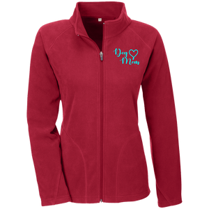 Dog Mom Teal Prnt - TT90W Team 365 Ladies' Microfleece, Jackets | Pit Bull T Shirts, Hoodies and more | Little Pit Shop