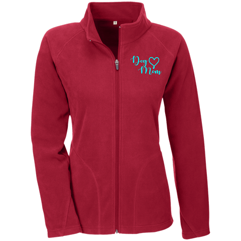 Dog Mom Teal Prnt - TT90W Team 365 Ladies' Microfleece Scarlet Red X-Small - Little Pit Shop
