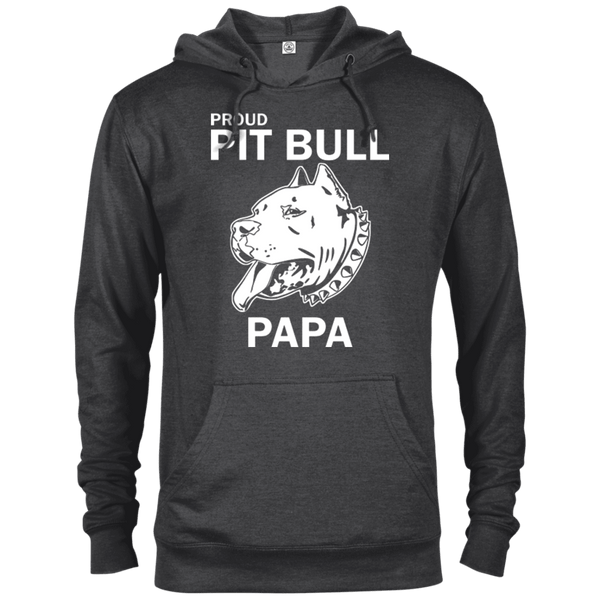 Proud Pit Bull Papa - 97200 Delta French Terry Hoodie Dark Charcoal Heather X-Small - Little Pit Shop