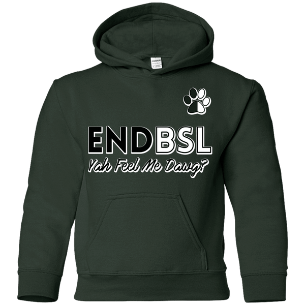 End BSL - G185B Gildan Youth Pullover Hoodie Forest Green YS - Little Pit Shop