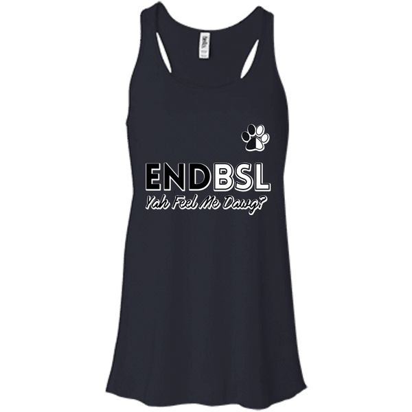 End BSL - B8800 Bella + Canvas Flowy Racerback Tank Midnight X-Small - Little Pit Shop