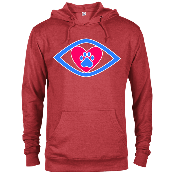 Eye-Heart-Paw - 97200 Delta French Terry Hoodie Dark Red Heather X-Small - Little Pit Shop