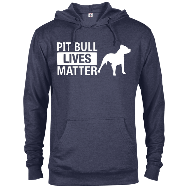 Pit Bull Lives Matter - 97200 Delta French Terry Hoodie Dark Denim Heather X-Small - Little Pit Shop