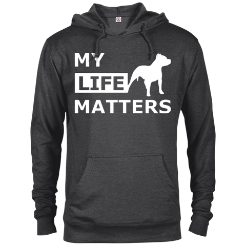 My Life Matters - 97200 Delta French Terry Hoodie Dark Charcoal Heather X-Small - Little Pit Shop