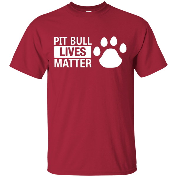 Pit Bull Lives Matter - G200 Gildan Ultra Cotton T-Shirt Cardinal Small - Little Pit Shop