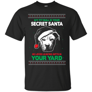 Secret Santa - G200 Gildan Ultra Cotton T-Shirt by Little Pit Shop Black Small - Little Pit Shop