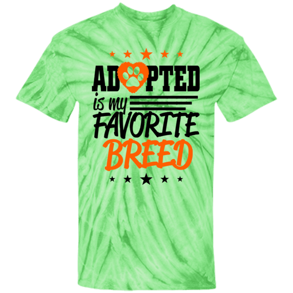 Adopted - CD100Y Youth Tie Dye T-Shirt Spider Lime YXS - Little Pit Shop