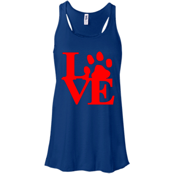 Love Red - B8800 Bella + Canvas Flowy Racerback Tank True Royal X-Small - Little Pit Shop