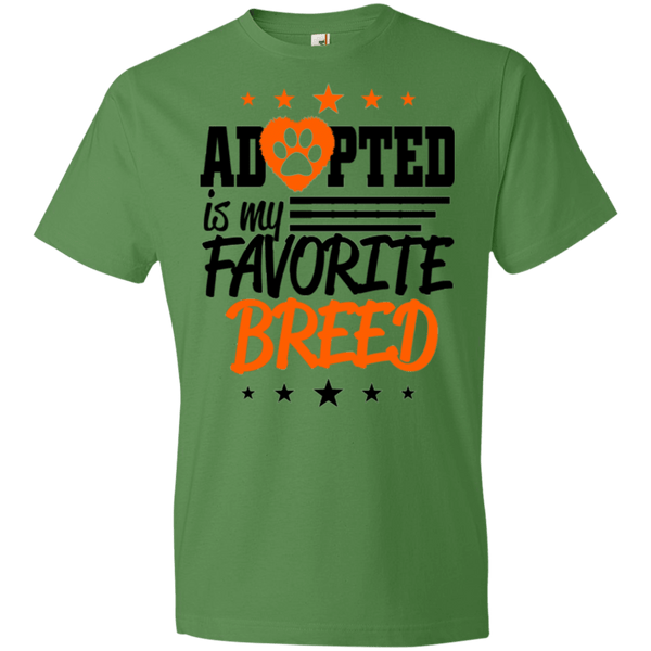 Adopted is My Favorite Breed - 990B Anvil Youth Lightweight T-Shirt 4.5 oz Green Apple YXS - Little Pit Shop