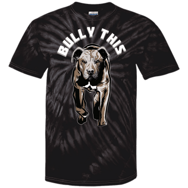 Bully This! - CD100 100% Cotton Tie Dye T-Shirt Spider Black Small - Little Pit Shop