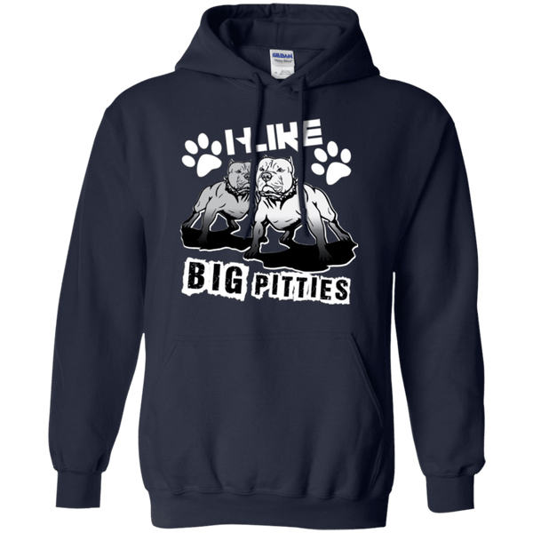 I Like Big Pitties Lt - G185 Gildan Pullover Hoodie 8 oz. Navy Small - Little Pit Shop