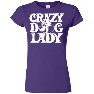 Crazy Dog Lady - G640L Gildan Softstyle Ladies' T-Shirt Dark, T-Shirts | Pit Bull T Shirts, Hoodies and more | Little Pit Shop