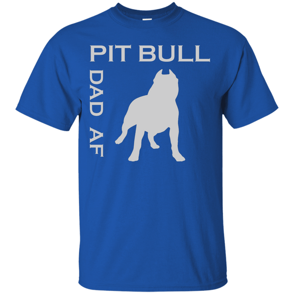 Pit Bull Dad AF - G200 Gildan Ultra Cotton T-Shirt Royal Small - Little Pit Shop