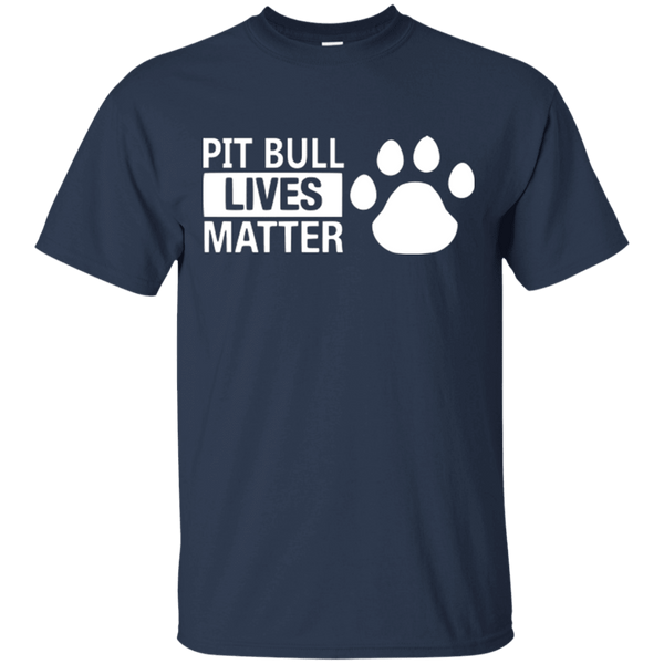 Pit Bull Lives Matter - G200 Gildan Ultra Cotton T-Shirt Navy Small - Little Pit Shop