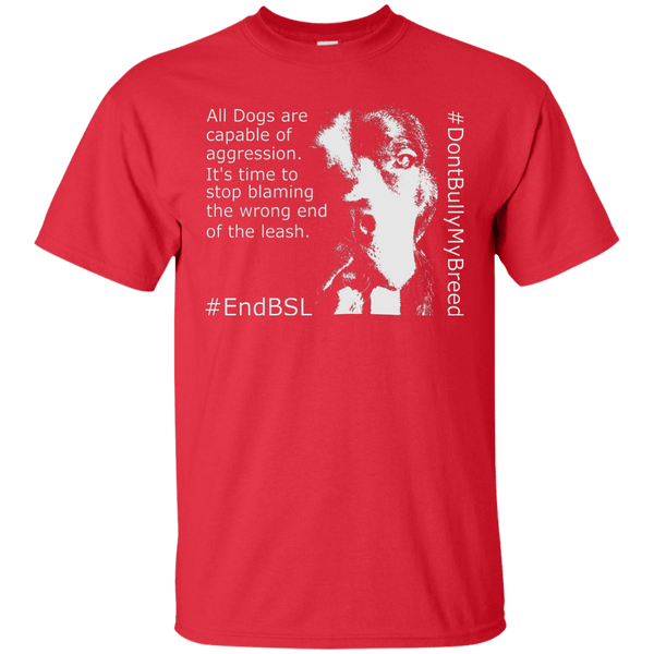 #EndBSL G200 Gildan Ultra Cotton T-Shirt Red Small - Little Pit Shop