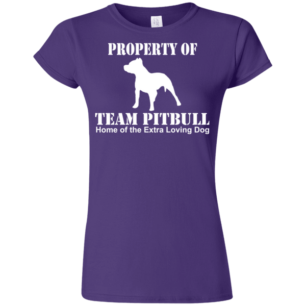 Team Pit Bull - G640L Gildan Softstyle Ladies' T-Shirt Dark Purple Small - Little Pit Shop